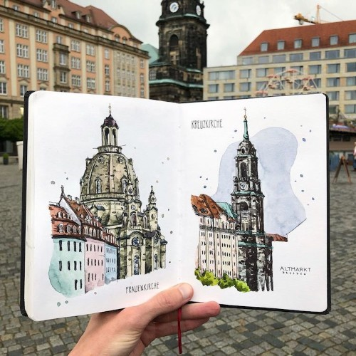 Traveling Artist Captures Europe's Charming Cityscapes in Watercolor