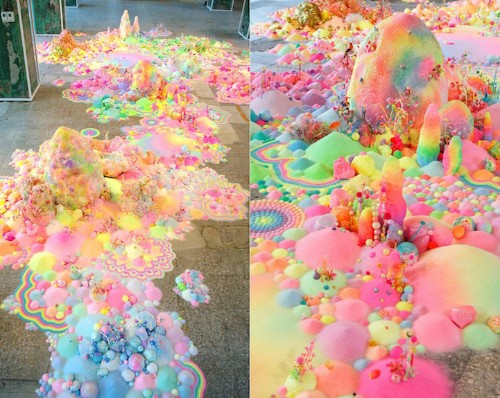 Spectacular Floor Installations Made of Candy and Other Colorful Objects