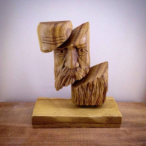 Man Leaves 11-Year Career in Finance to Pursue Passion for Surreal Wood Carving