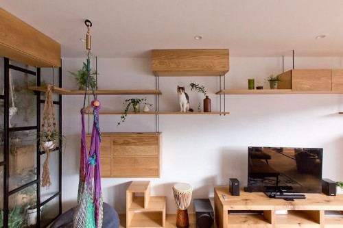 Space-Saving Apartment in Japan Doubles as Purrfect Cat Playground