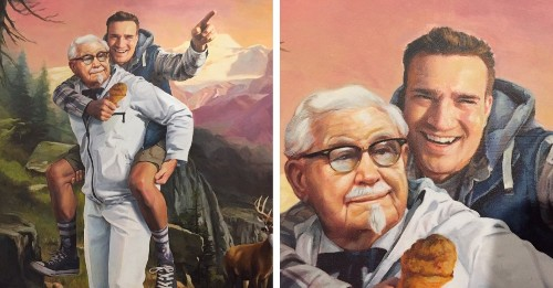 KFC Commissions Painting of a Man Who Figured Out Their Twitter Secret