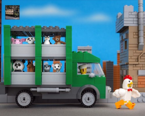 New LEGO Recreations of Banksy's Famous Street Art