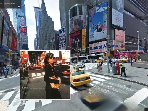 Famous Album Covers Pasted into Exact Locations in Google Street View