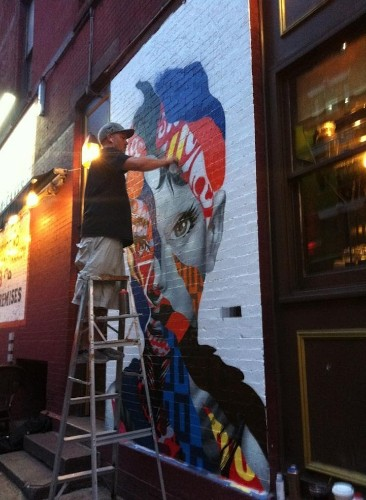 Eye-Catching Mural of Audrey Hepburn in NYC's Little Italy