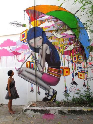 Street Artist Paints Whimsical Murals Around the World