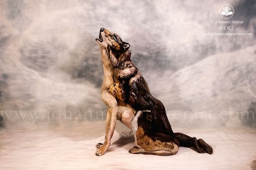 Majestic Lone Wolf Is Actually Three People Skillfully Covered in Body Paint
