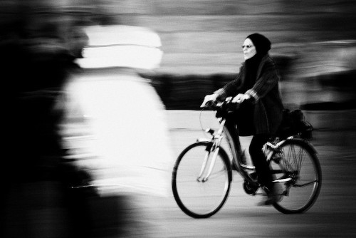 Blurry Photographs of Unsuspecting Cyclists in Motion