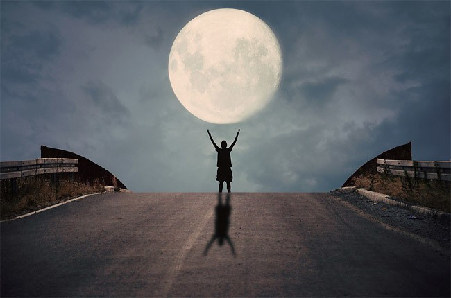 Creative Photographs of a Person Playing with the Moon