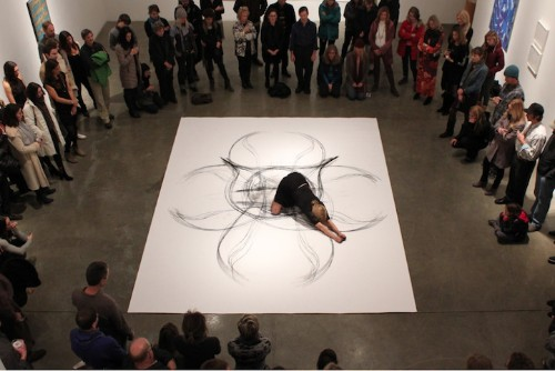Artist's Physical Gestures Produce Beautiful Charcoal Drawings