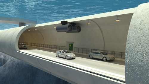 World's First Submerged Floating Bridge Allows for Travel Beneath Norwegian Fjords
