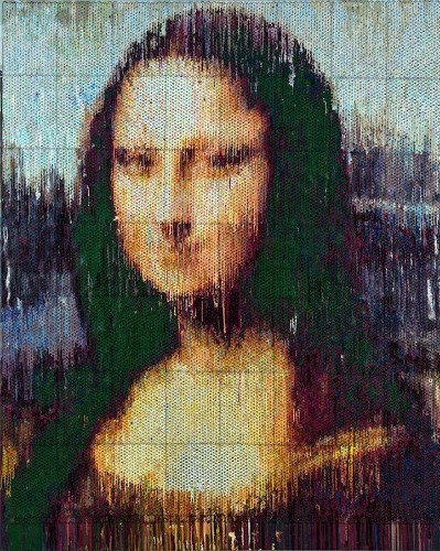 Injecting Paint in Bubble Wrap to Recreate Iconic Paintings