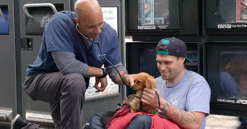 Kind Veterinarian Travels Around California Treating Homeless People's Pets For Free