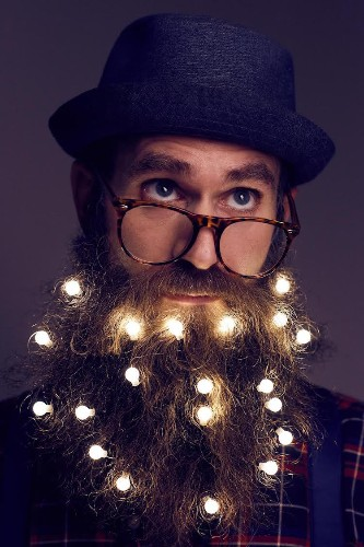 Men in London Are Festively Decorating Their Beards With Twinkling Holiday Lights