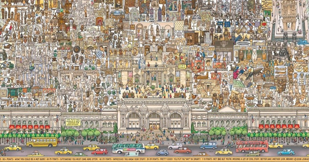 Incredibly Detailed Hand-Illustrated Map Gives You an Intricate Look at the MET's Collections