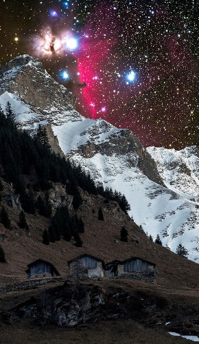 Otherworldly Images of Andromeda Galaxy Over a Tiny Swiss Village