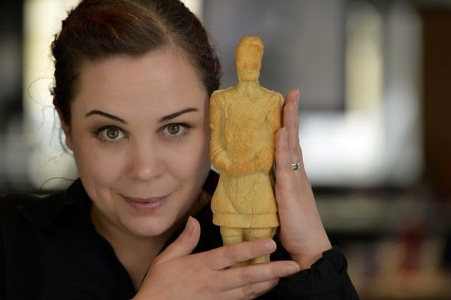 China's Terracotta Warriors Impressively Sculpted Out of Pizza Dough
