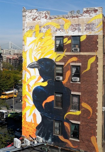 Street Art Project Uses Building Facades to Spread the Word About 314 Endangered Bird Species