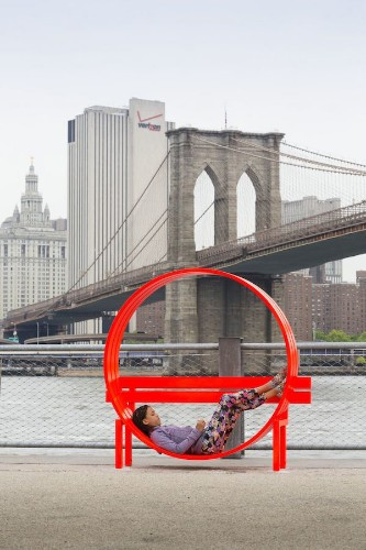 Mirror Labryinth, Twisted Park Benches and Disappearing Rooms of Water at Brooklyn Bridge Park