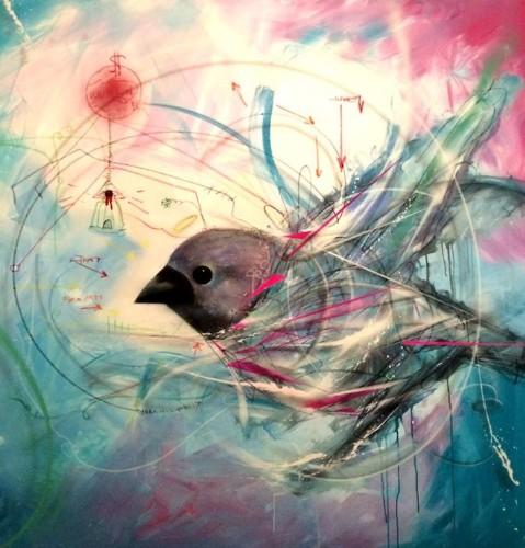 Beautiful Bird Drawings by Brazilian Street Artist L7m