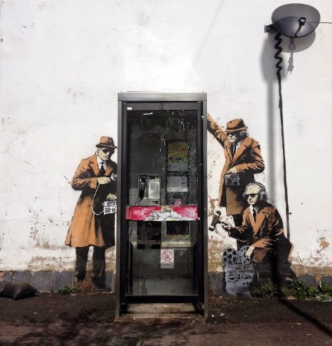New Phone Booth Wiretapping Street Art in England