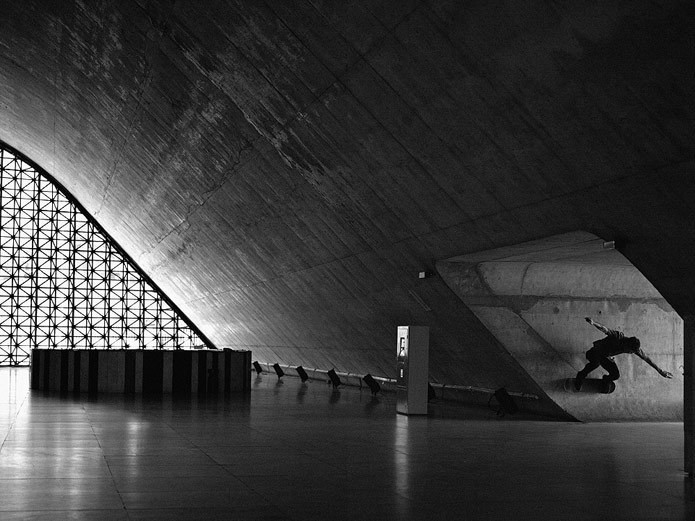 Skateboarder's Unique Self-Portraits Highlight So Paulo's Architecture