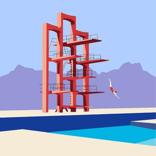 Vibrant illustrations Pay Homage to Armenia's Soviet Modernist Architecture
