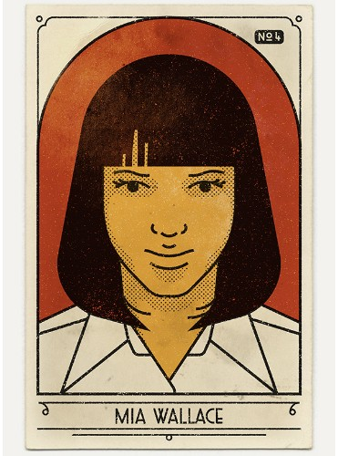 "Vintage-Inspired Portraits Pay Tribute to 20th Anniversary of ""Pulp Fiction"""