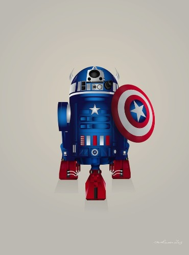 Delightful Illustrations Depict R2-D2 Dressed as Other Superheroes