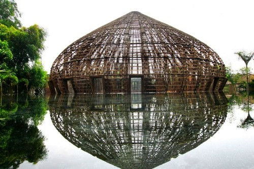 Amazing Bamboo Dome Bound Together Without Any Nails
