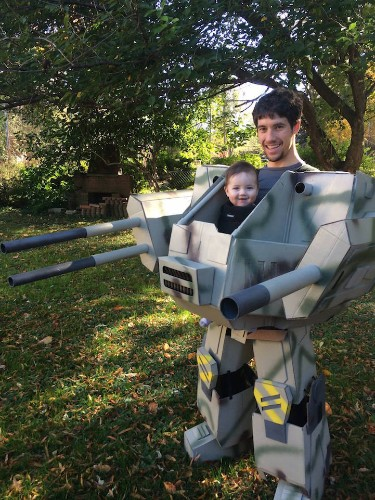 Impressive Father and Son BattleTech Costume Imagined Years Before Son Was Born