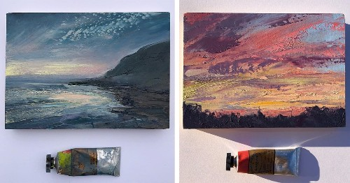Expressive Landscape Paintings Capture the Beautiful Mutability of the Sky