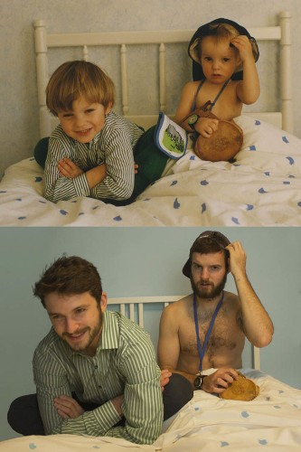 Grown Brothers Hilariously Recreate Photos from Their Past