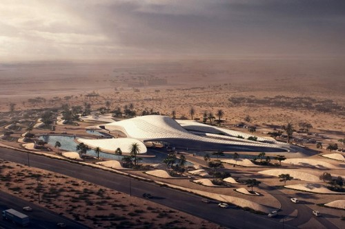New Energy Efficient, Sand Dune-Shaped Building by Zaha Hadid