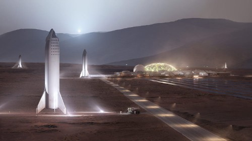 SpaceX Aims to Start a Self-Sustaining City on Mars in 2022