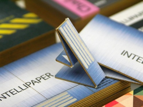 Innovative Paper Business Card Features a Foldable USB Drive for Extra Info