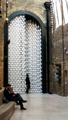 The Wind Portal: Walk-Through Gate Made of 5,000 Paper Windmills