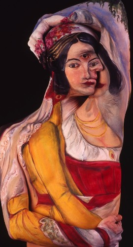 Historical Artworks Painted on the Human Body