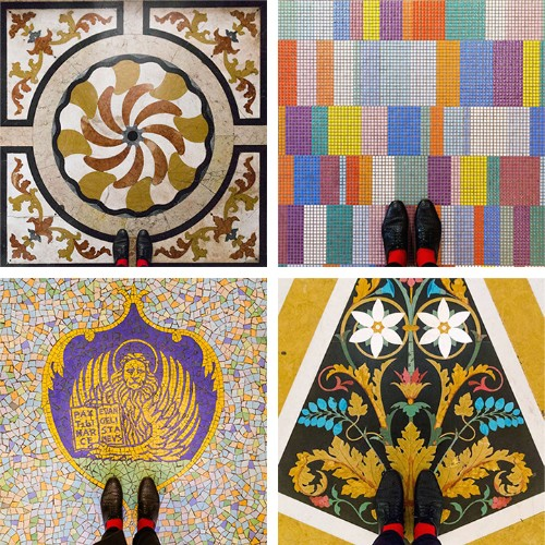 Colorful Photo Series Reveals the One-Of-A-Kind Floor Patterns of Venice