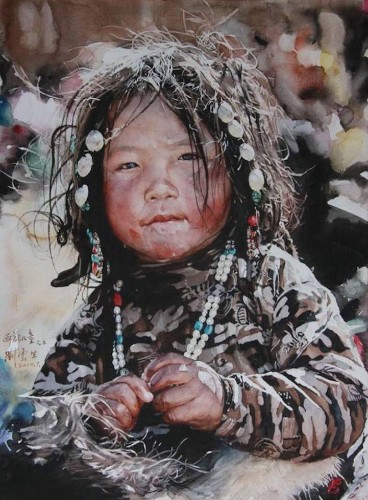 Watercolor Painter Uses Traditional Techniques to Reveal Expressive Faces of Tibet