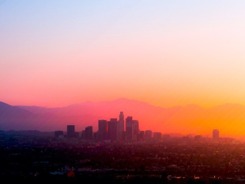 Gorgeous LA Sunrise Photo is Collage of 60 Images