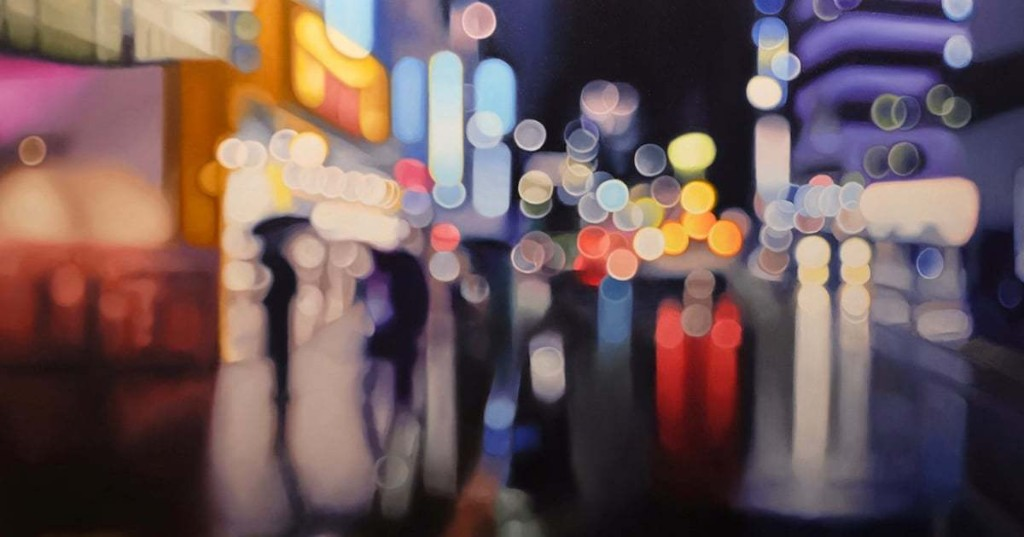 Dazzling Nighttime Cityscapes Are Reimagined as Beautiful Bokeh-Style Paintings