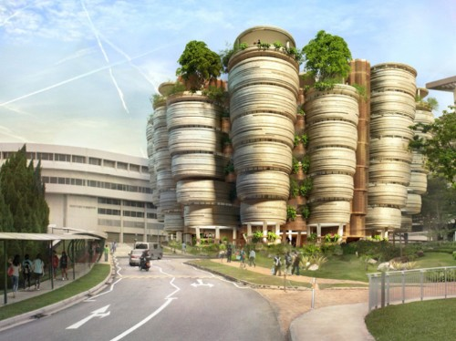 Singapore's Communal Learning Towers Inspired by Beehives