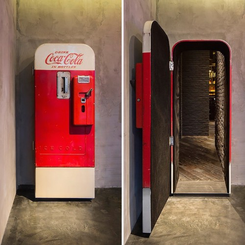 Modern Shanghai Speakeasy Accessible Through a Vintage Coke Machine