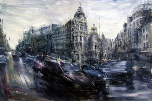 Dynamic Oil Paintings of Cityscapes in Motion