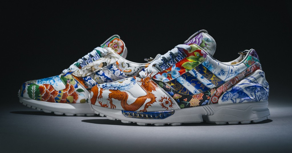 Artists Hand-Painted a One-of-a-Kind Porcelain Adidas Sneaker That Looks Like It Belongs in a Museum