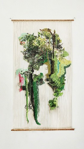 "Textile Artist Creates Nature-Inspired Embroidery Art That ""Grows"" Beyond Its Frame"
