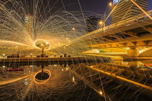 Incredible Light Painting Portrait in Seoul
