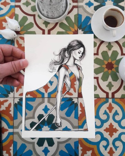 Illustrator Creates New Fashion Cut-Outs to Turn Any Landscape into Clever Clothing Designs