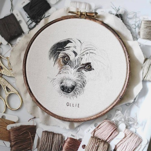 Hyperrealistic Pet Portraits Rendered with Up to 18 Hours of Exquisite Embroidery