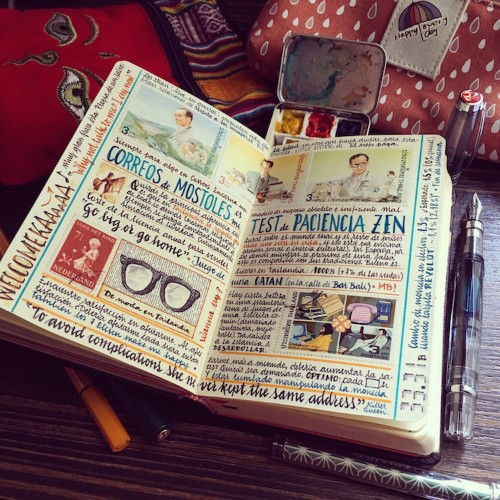 Here's What It Looks Like Inside the Handmade Sketchbooks of a Well-Traveled Artist